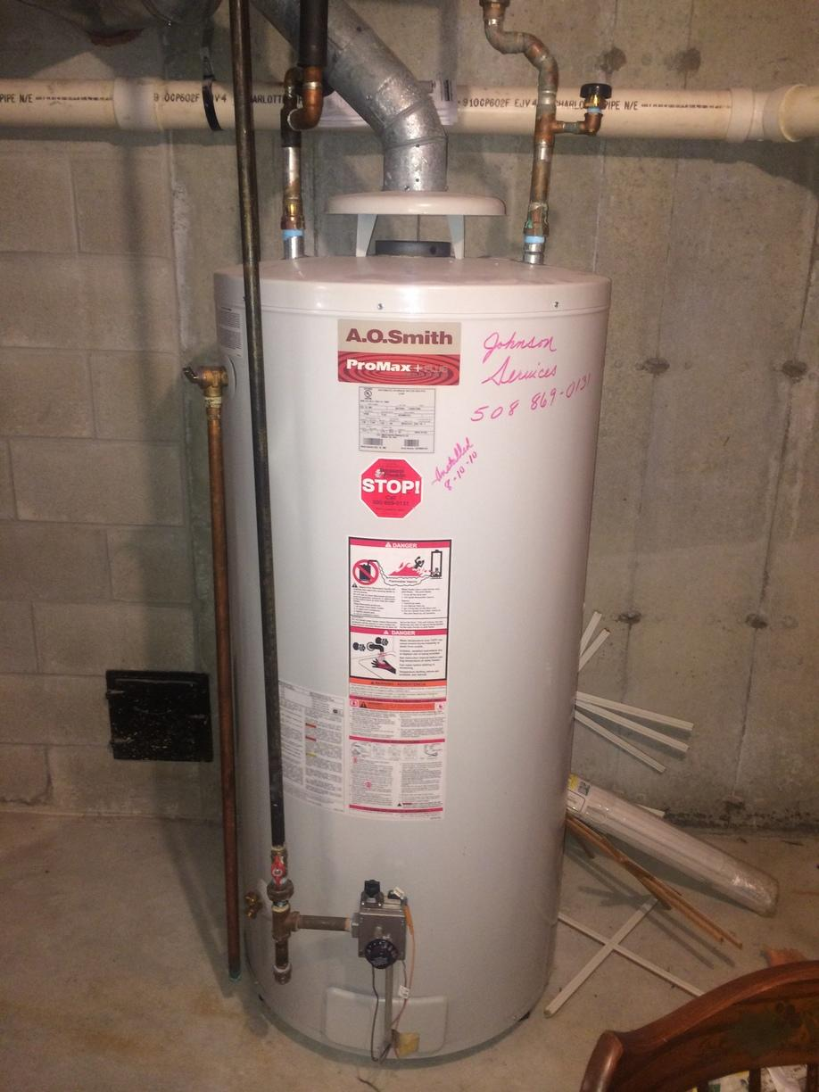 Gas Hot Water Heater Replacement - Before Photo