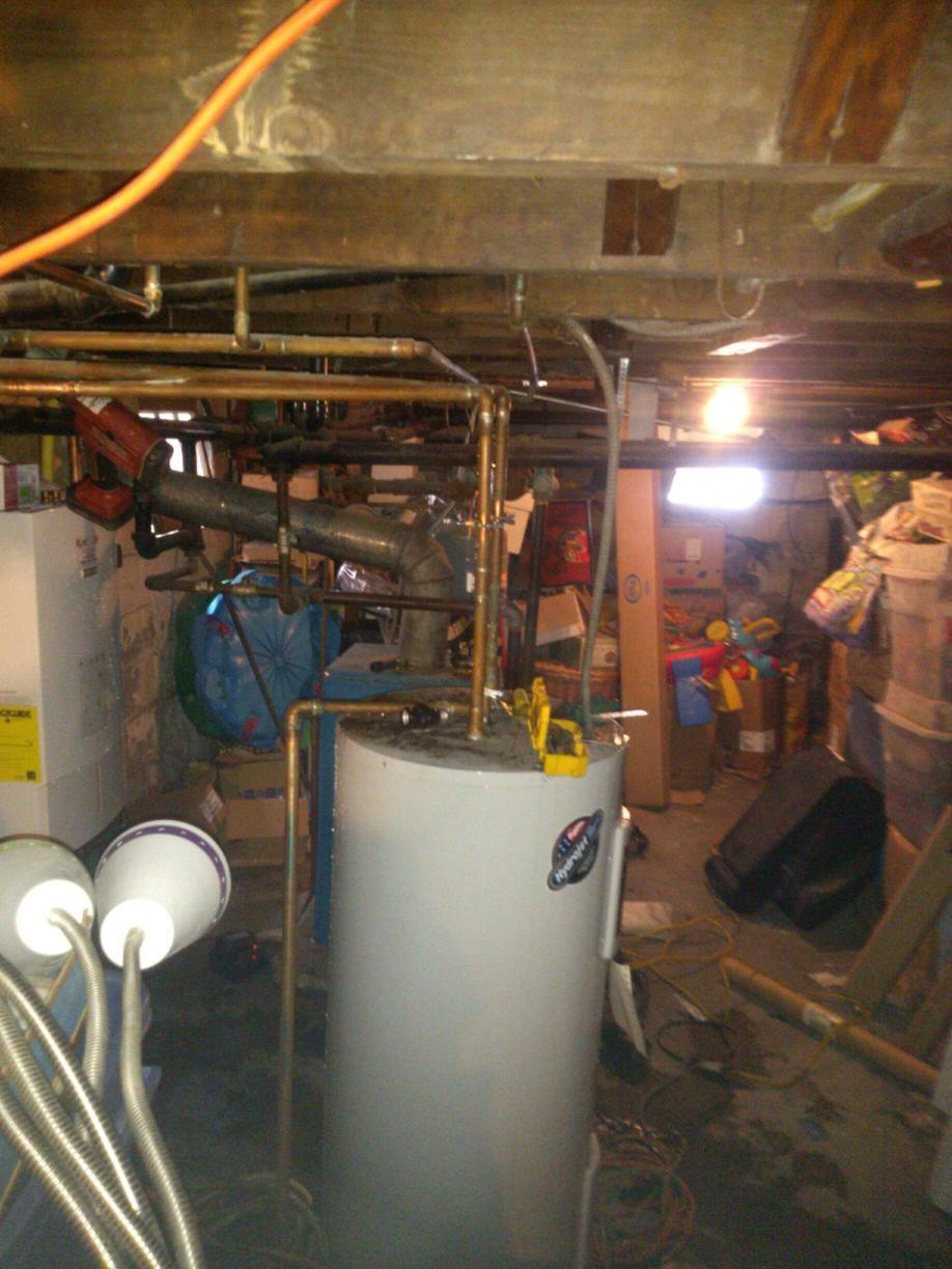 Boiler and Hot Water Heater Replacement in Collingswood, NJ - Before Photo