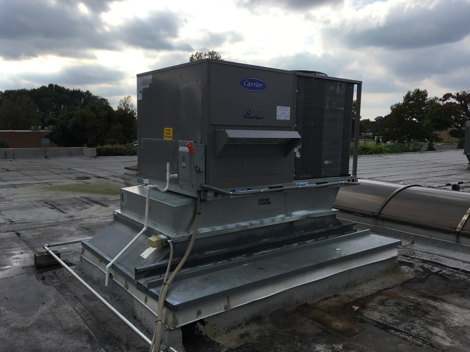 Commercial Rooftop Air Conditioning Replacement - After Photo