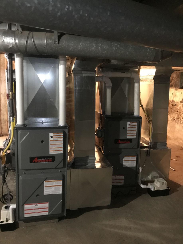 Gas Furnace Installation on a duplex in Pennsauken, NJ - After Photo