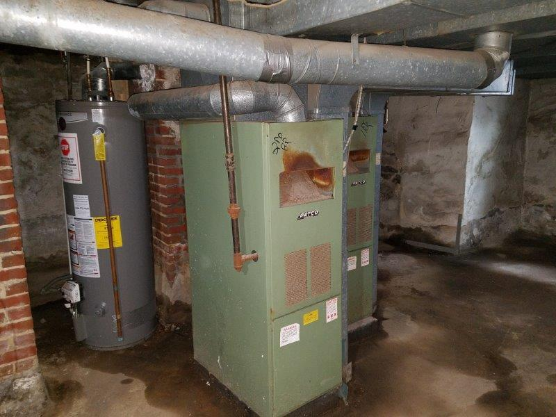 Gas Furnace Installation on a duplex in Pennsauken, NJ - Before Photo
