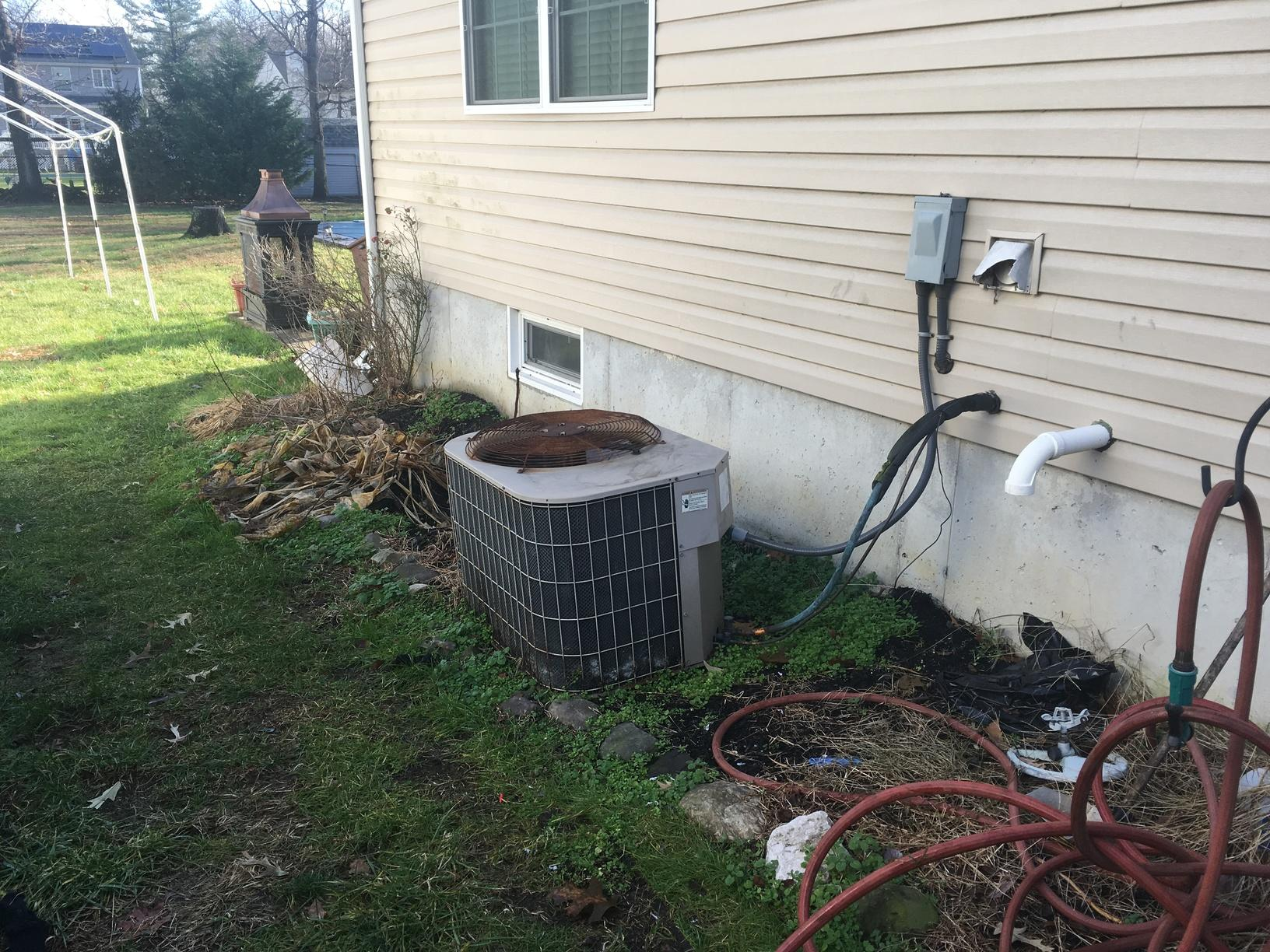 High Efficiency  Bryant Air Conditioner installed in  West Deptford, NJ - Before Photo