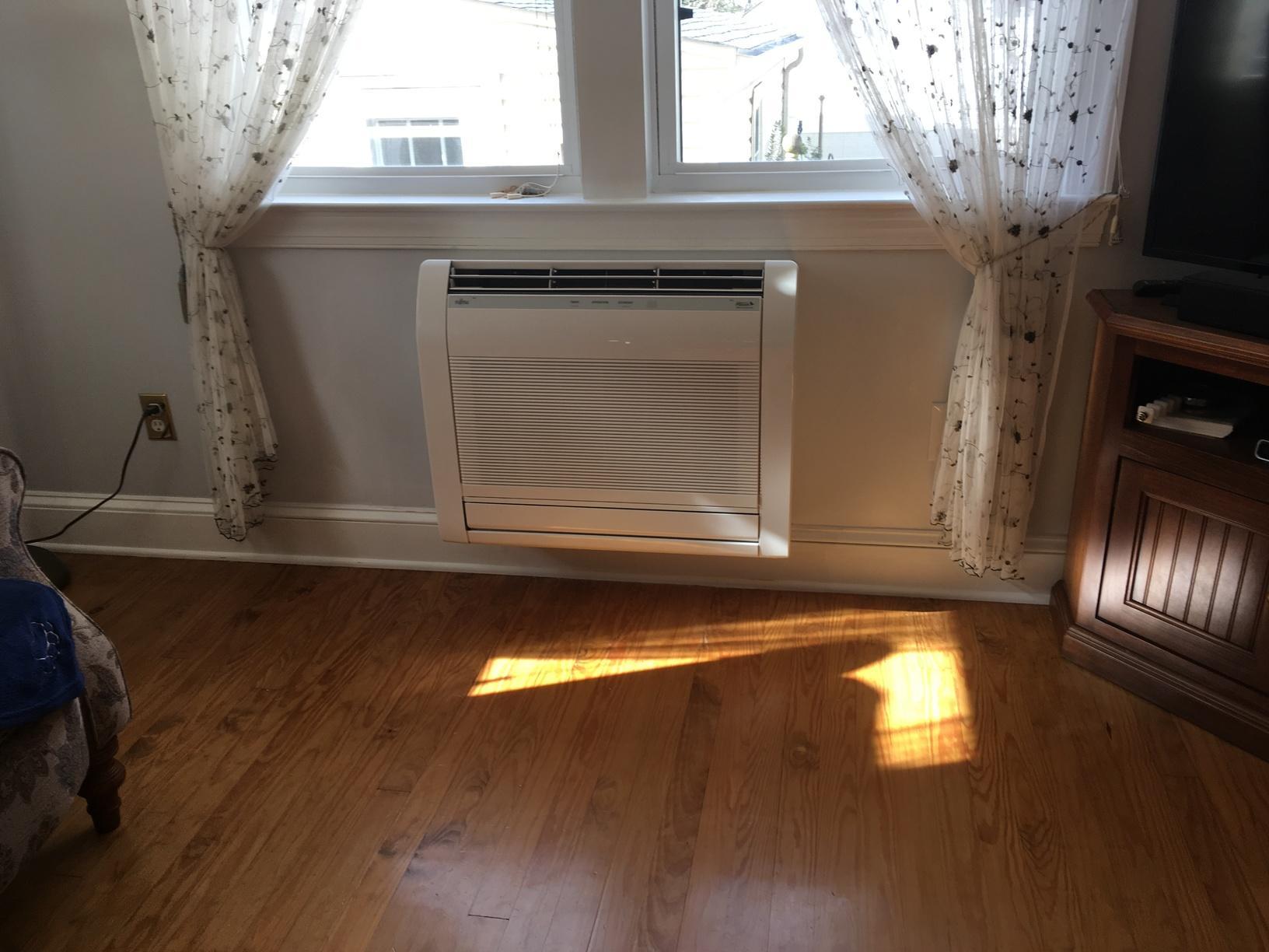 Installed a Fijitsu Mini Split Heat Pump in Oaklyn, NJ 08107 - After Photo