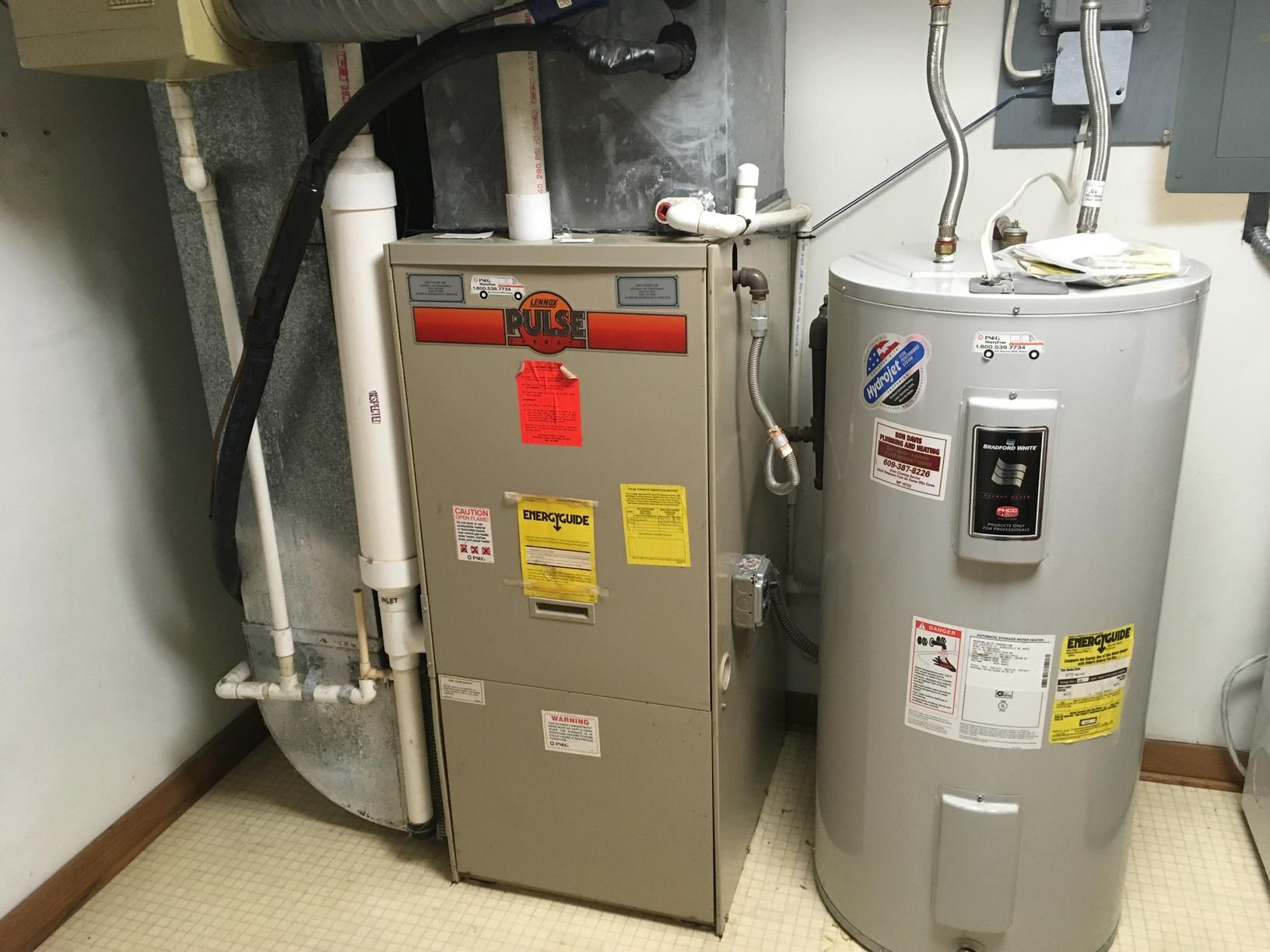 Energy Audit reveals need for a new Amana Furnace installation in Cherry Hill, NJ - Before Photo