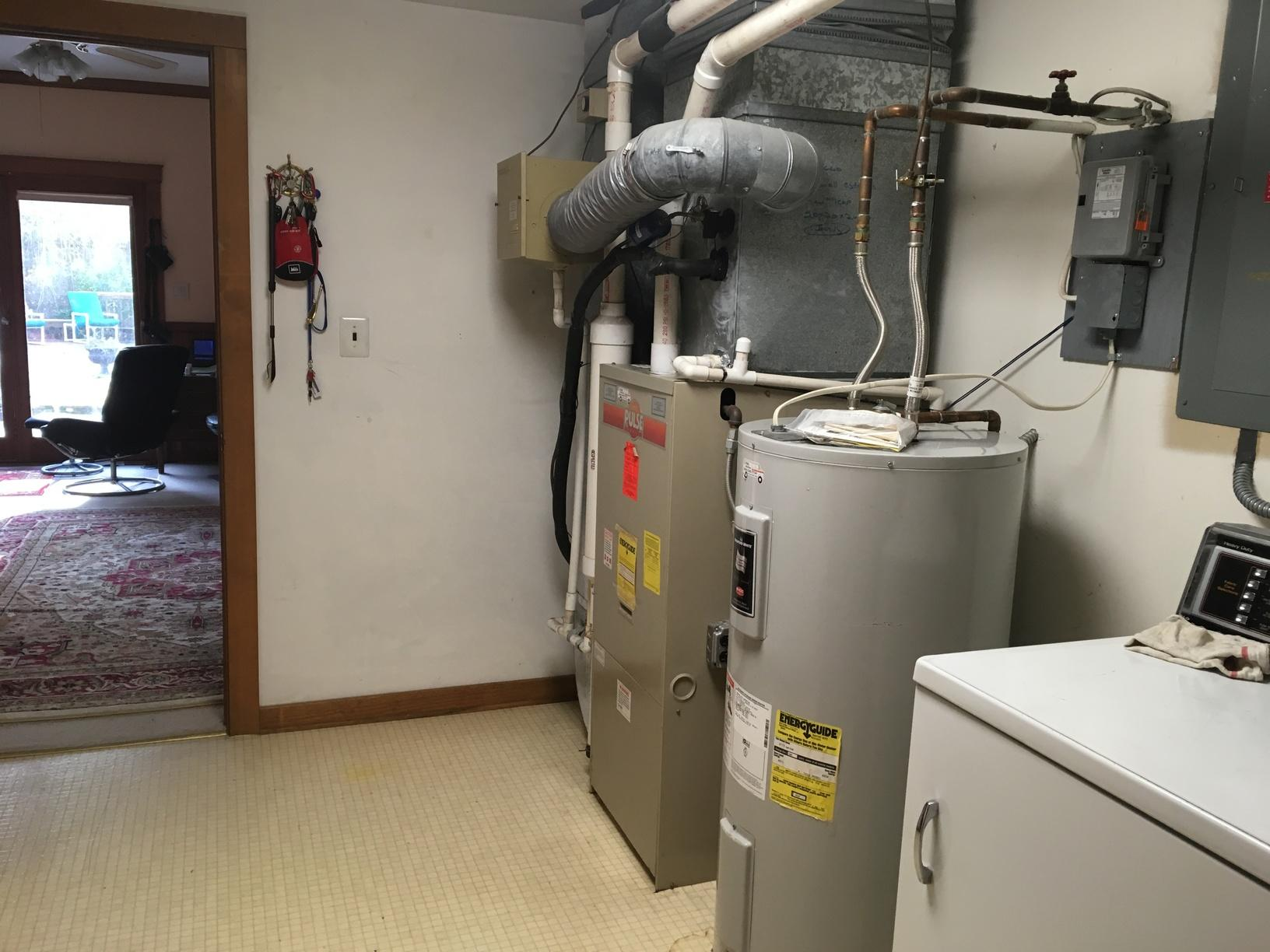 Bosch Tankless Hot Water Heater in Cherry Hill, NJ - Before Photo