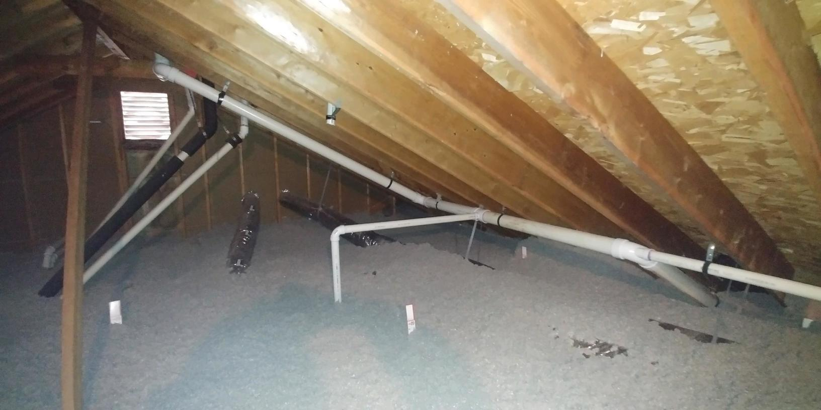 Blown in Cellulose Insulation in an Attic in Cherry Hill, NJ - After Photo