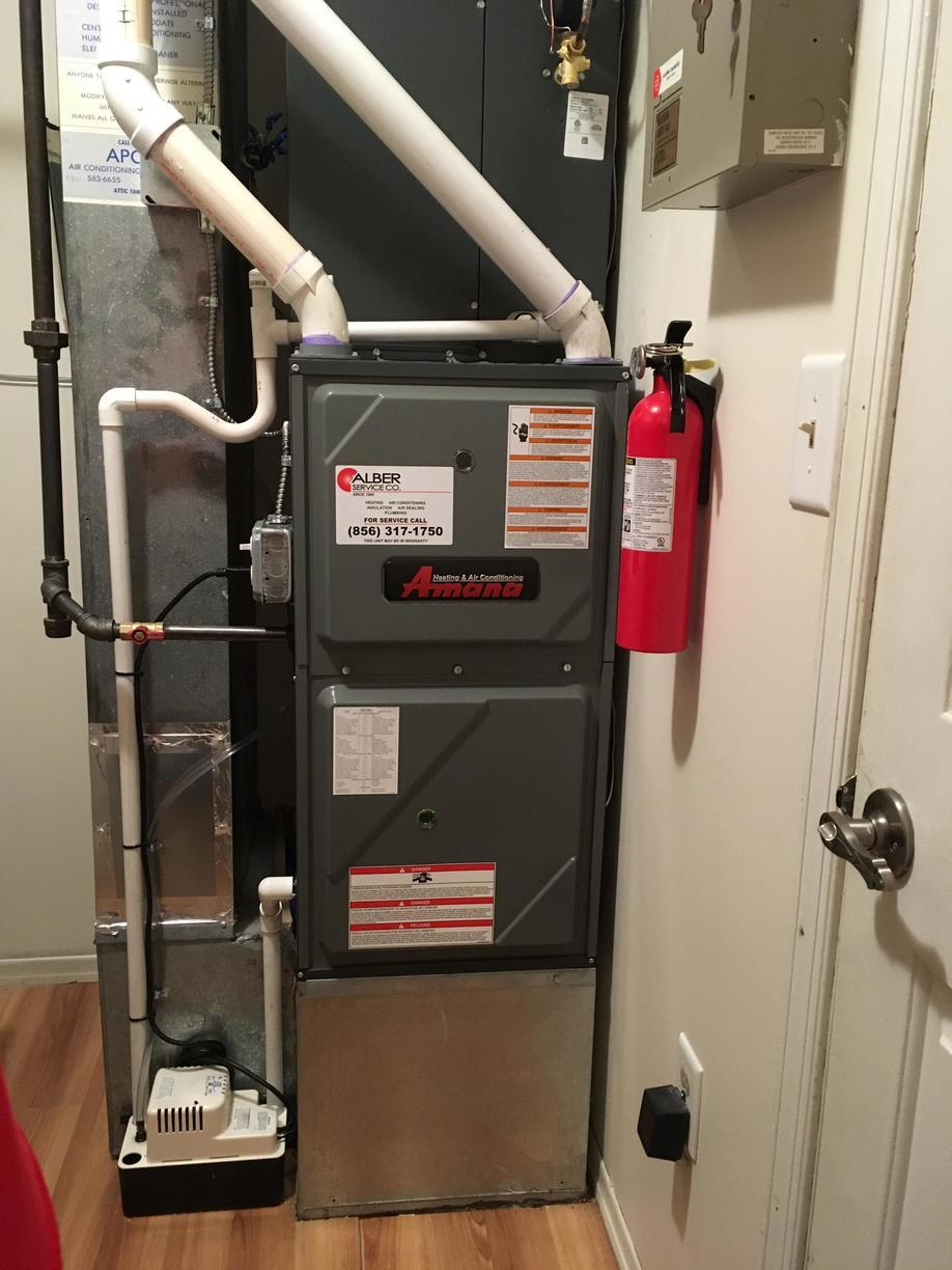 Amana Furnace installation in Columbus, NJ - After Photo