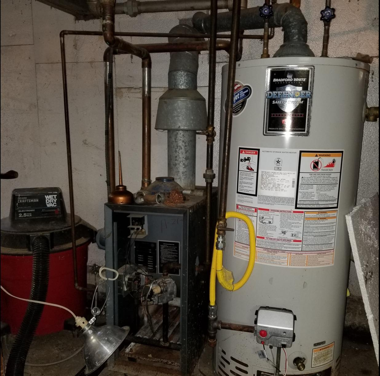 Boiler Replacement with Bosch Combi Boiler in Wenonah - Before Photo