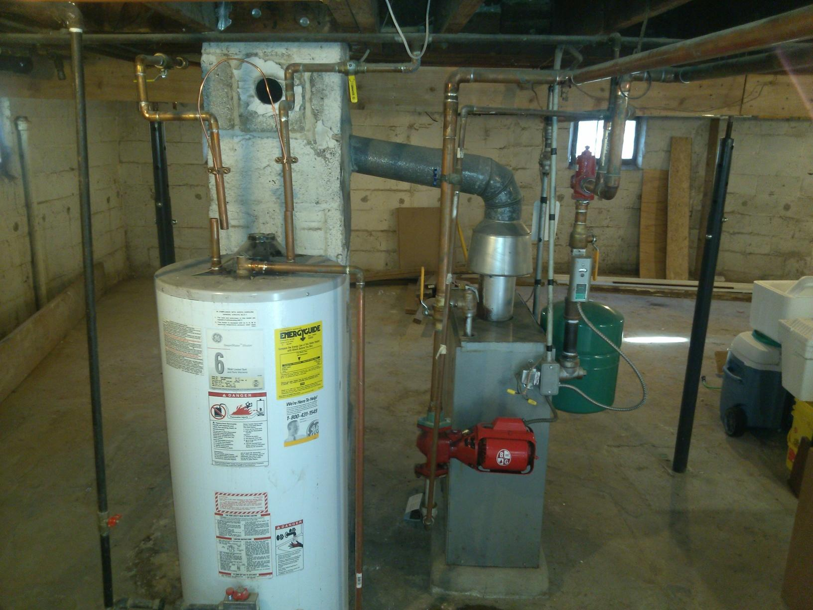 Boiler and Hot Water Heater Replacement in Pennsauken, NJ - Before Photo
