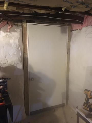 New Insulated Basement Door - After Photo