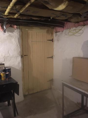 New Insulated Basement Door - Before Photo