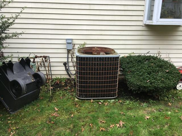 New Air Conditioning installation in Columbus, NJ - Before Photo