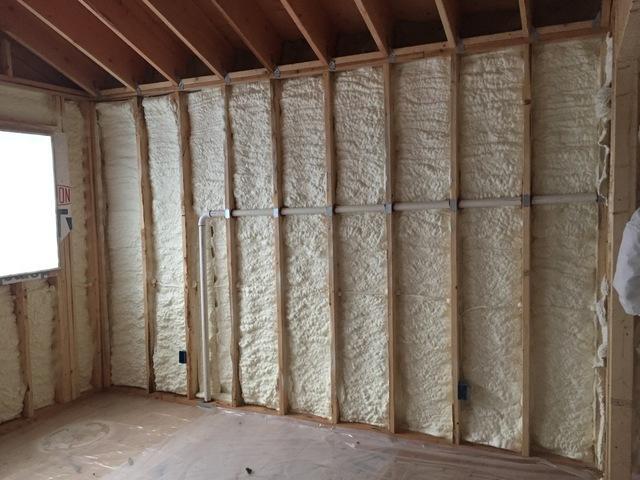 Spray Foam Insulation Install in a New House Build in Wurtsboro, NY