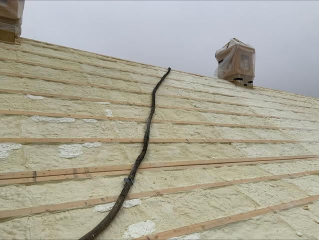 Insulating A New Construction Barn Roof With Closed Cell - Highland, NY - After Photo