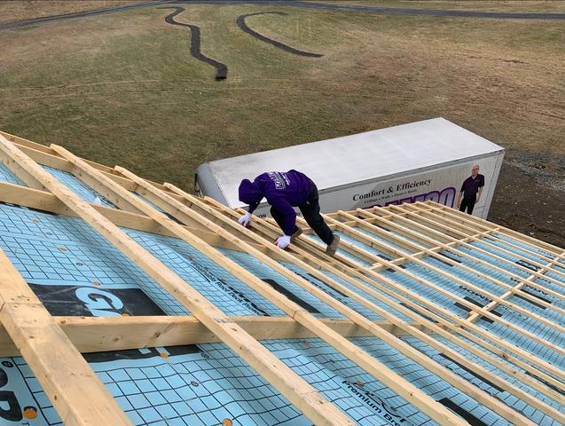 Insulating A New Construction Barn Roof With Closed Cell - Highland, NY - Before Photo