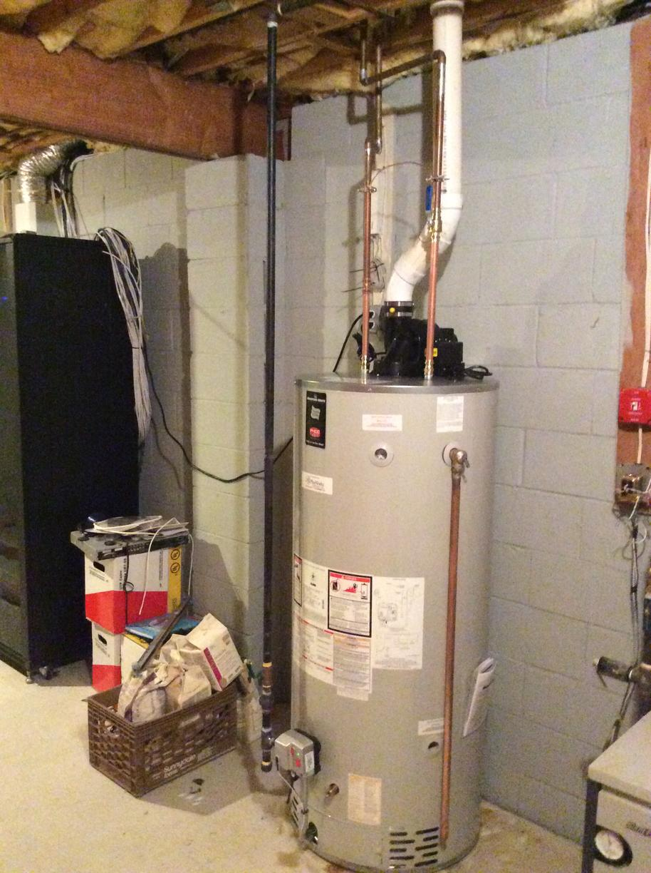 New Power Vent Water Heater - After Photo