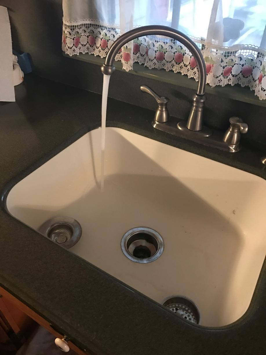 Clogged Kitchen Sink - After Photo