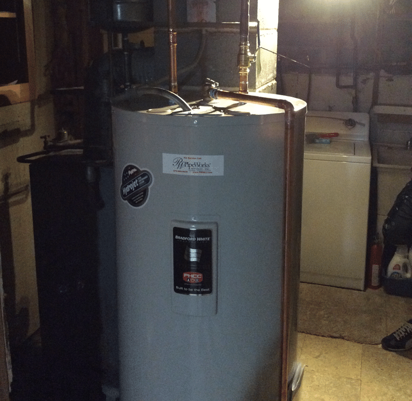 Installation of Bradford White Hot Water Heater in Landing, NJ - After Photo