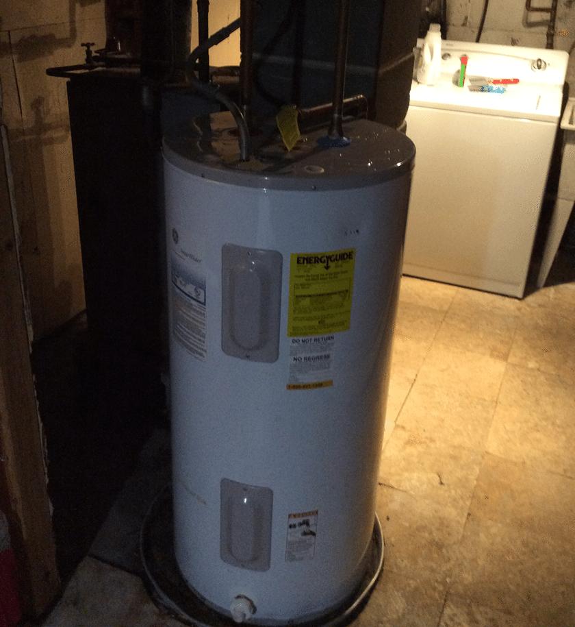 Installation of Bradford White Hot Water Heater in Landing, NJ - Before Photo