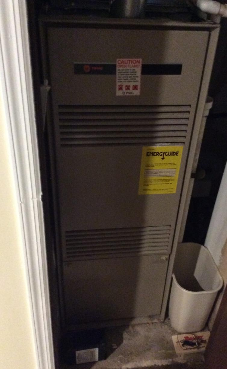Furnace Replacement in Princeton, NJ. - Before Photo