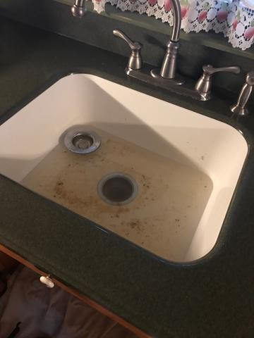 Clogged Kitchen Sink