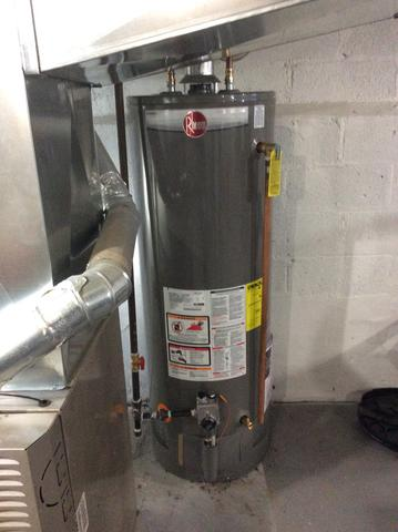 Leaking Water Heater Replaced with Rheem 50 Gallon in Summit, NJ