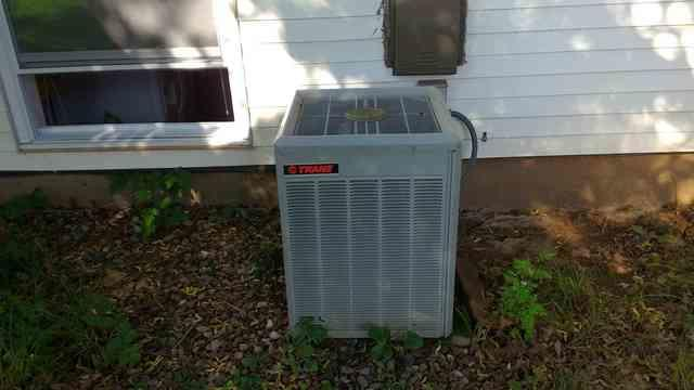 New Armstrong Air Condenser in Hillsborough, NJ - Before Photo
