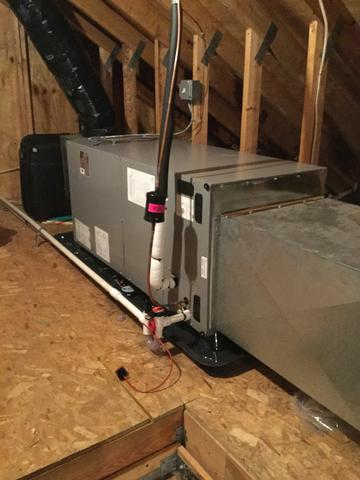 New Upstairs A/C Unit Replacement in Millington, NJ