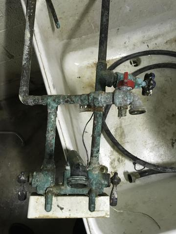 Corroded Pipes on Washer Hook Up in Fanwood, New Jersey