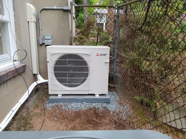 Mitsubishi Ductless Mini-Split Install in Raritan, NJ - After Photo