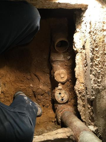 Pipe Lining in Progress in Ledgewood, New Jersey