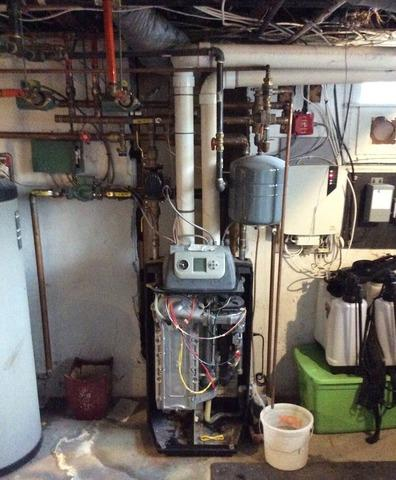 NTI Boiler replacement, storage tank replacement and water softener installation in Summit, NJ
