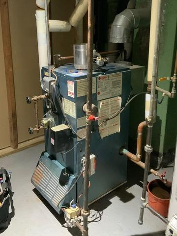 Steam Boiler Install in Madison, NJ.