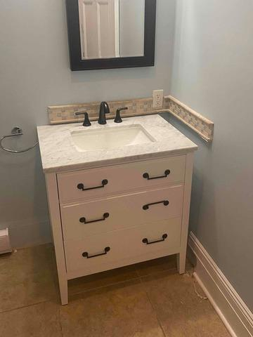Vanity Replacement in Short Hills, NJ.