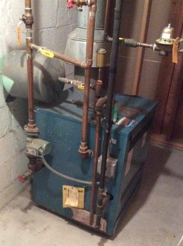 Boiler replacement in Madison, NJ.