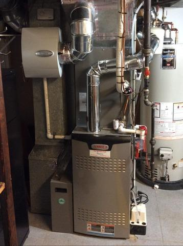 Furnace replacement in Chatham, NJ.