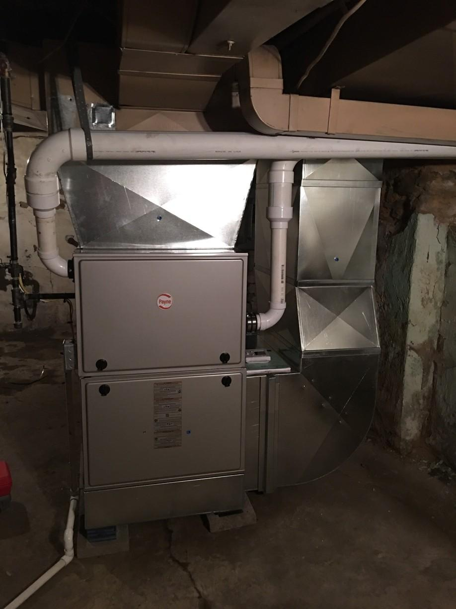 Gas furnace replacement in Wilkinsburg - After Photo