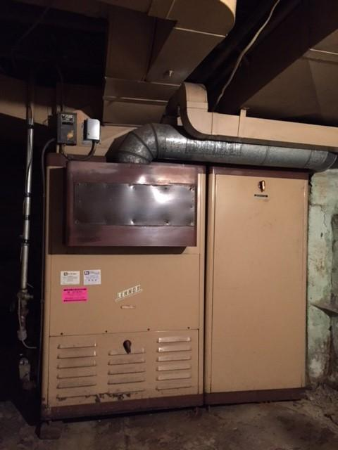 Gas furnace replacement in Wilkinsburg - Before Photo