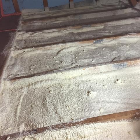 Tongue and groove ceiling to spray foam insulation, Bradford Woods, PA