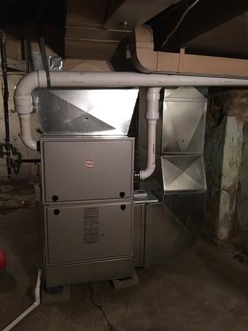 Gas furnace replacement in Wilkinsburg
