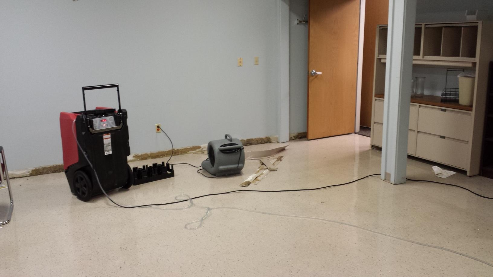Hospital water damage emergency service in Independence, OH - Before Photo