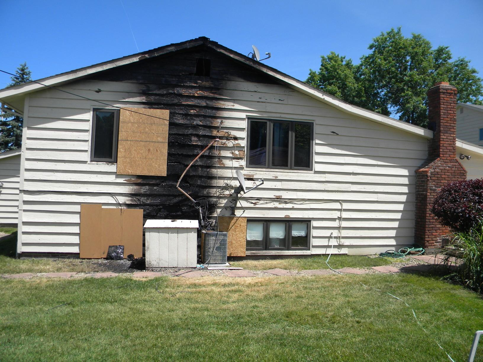 Fire damage from generator in Beachwood, Ohio - Before Photo
