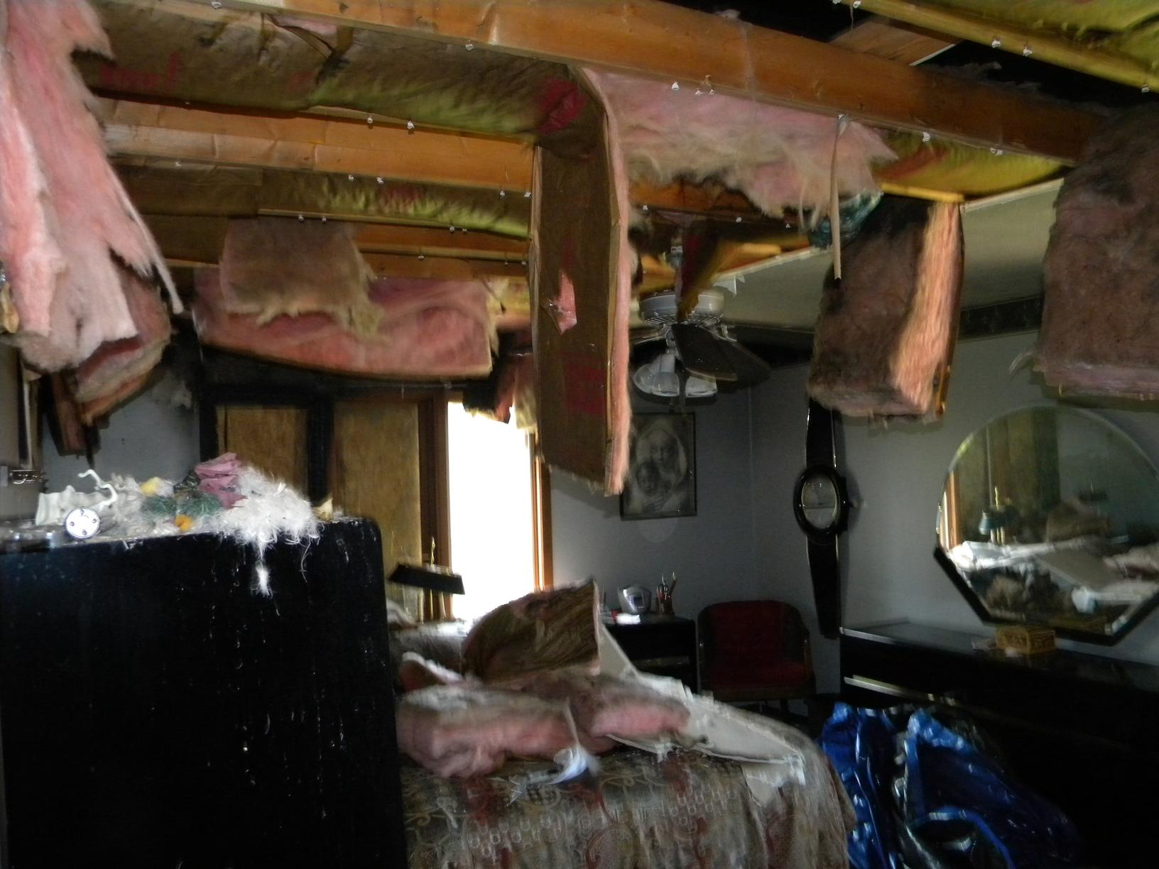 Bedroom Fire Damage in Cleveland - Before Photo