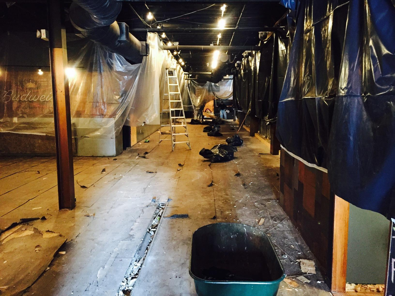 Disaster Restoration in Cleveland, OH bar - Before Photo