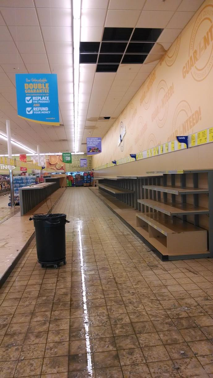 Aldi's Grocery Store Water Damage Emergency Service - Before Photo