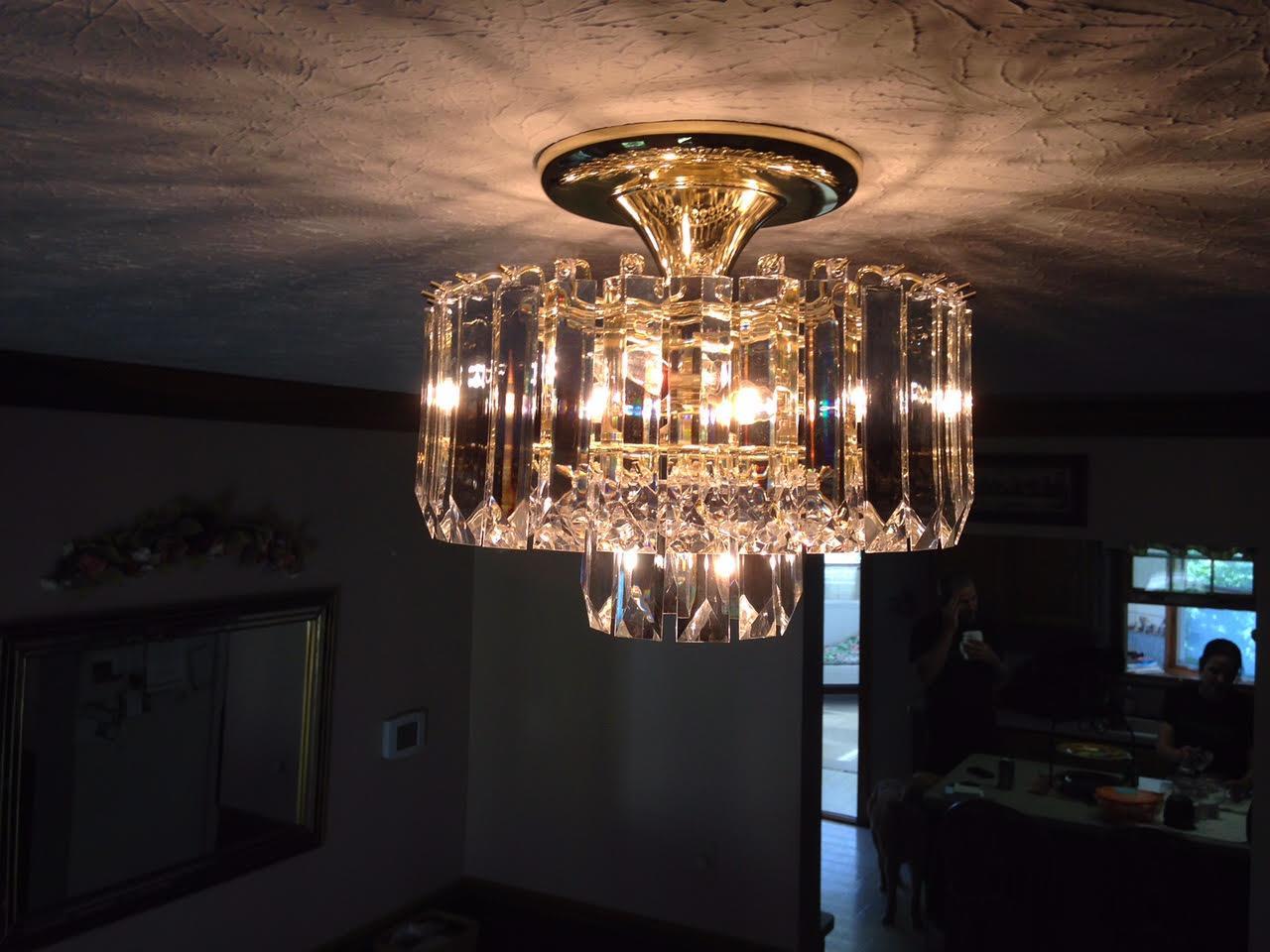 Chandelier Restoration After Fire Damage - Before Photo