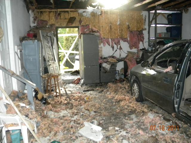 Garage damage - Before Photo