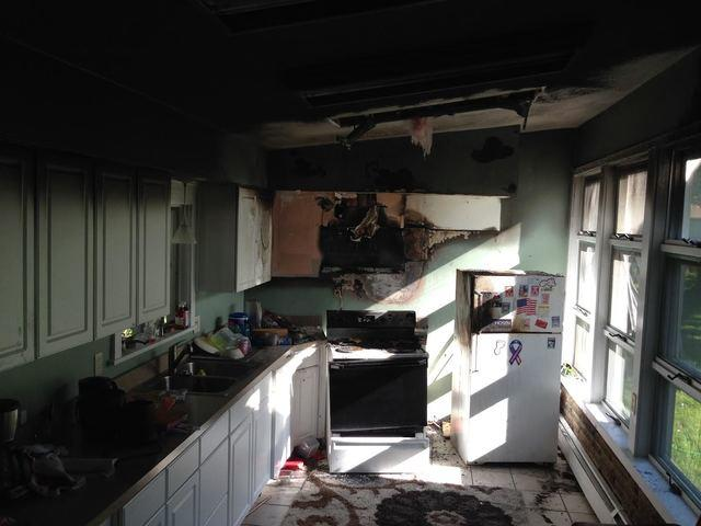 Kitchen fire repair and restoration in Eastlake, Ohio - Before Photo