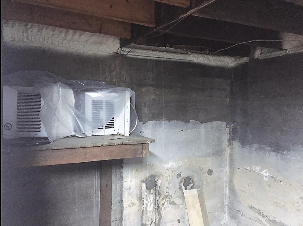 Binghamton, NY Spray Foaming the Rim Joist - After Photo