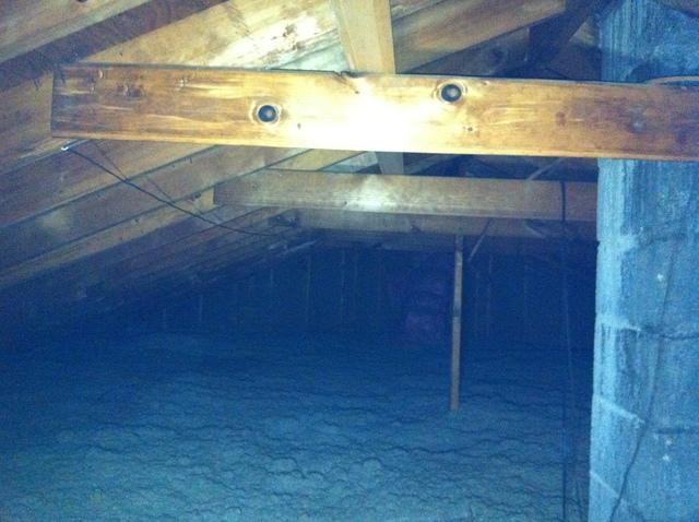 Attic Insulated with TruSoft, Maine, NY